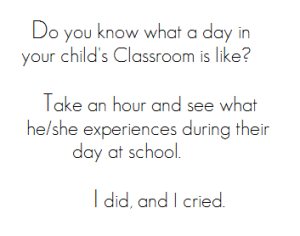 Take a hour in Your child's classroom